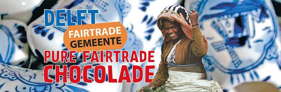 Fairtrade chocolade in Delfts blauwe wikkel